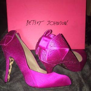 Betsey Johnson Hot Pink Carolina Heel with bow